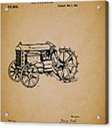 Vintage Henry Ford Tractor Patent Acrylic Print