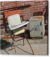 Vintage Highchair Acrylic Print by Paulette Maffucci