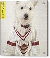 Vintage Hockey Rookie Player Card Acrylic Print