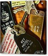 Vintage Hotel Keys Acrylic Print