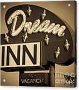Vintage Hotel - Motel Sign Acrylic Print