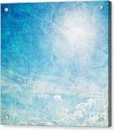 Vintage Image Of Sunny Blue Sky Acrylic Print