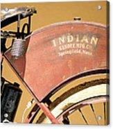 Vintage Indian Bike Acrylic Print