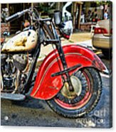 Vintage Indian Motorcycle - Live To Ride Acrylic Print
