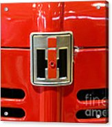 Vintage International Harvester Tractor Badge Acrylic Print