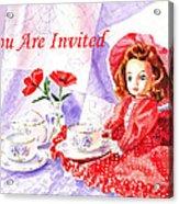 Vintage Invitation Acrylic Print by Irina Sztukowski