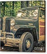 Vintage Jeep Station Wagon Acrylic Print