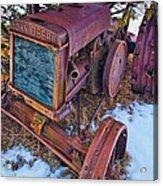 Vintage John Deere Acrylic Print by Inge Johnsson