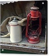 Vintage Kerosene Lamp And Vintage Acrylic Print