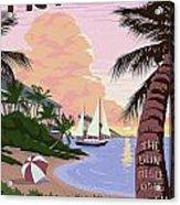 Vintage Key West Travel Poster Acrylic Print
