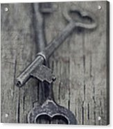 Vintage Keys Acrylic Print by Priska Wettstein