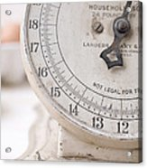 Vintage Kitchen Scale Acrylic Print