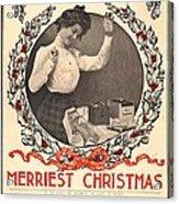 Vintage Kodak Christmas Card Acrylic Print