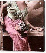 Vintage Lady Rose  Limited Sizes Acrylic Print