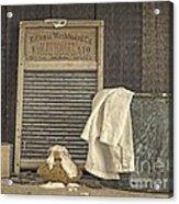 Vintage Laundry Room II By Edward M Fielding Acrylic Print