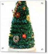 Vintage Lighted Christmas Tree Decoration Acrylic Print