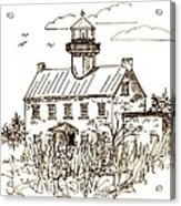 Vintage Lines Of East Point Lighthouse Acrylic Print