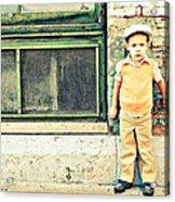 Vintage Little Boy Acrylic Print by Stephanie Grooms