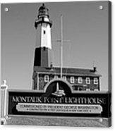 Vintage Looking Montauk Lighthouse Acrylic Print