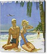 Vintage Los Angeles Travel Poster Acrylic Print
