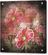 Vintage Love Letter Acrylic Print
