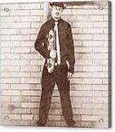Vintage Male Skateboarder Acrylic Print