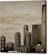 Vintage Manhattan Skyline Acrylic Print
