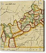 Map Of Kentucky 1812 Acrylic Print