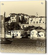 Vintage Marseille Sailing Acrylic Print