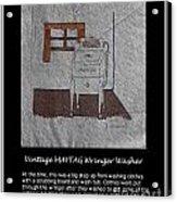 Vintage Maytag Wringer Washer Acrylic Print