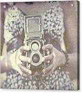 Vintage Medium Format Camera Acrylic Print