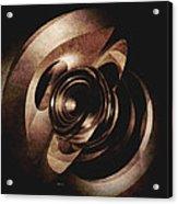 Vintage Metal Abstract Acrylic Print