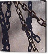 Vintage Metal Chains Acrylic Print
