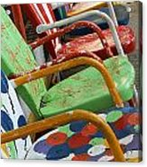 Vintage Metal Outdoor Chairs Acrylic Print