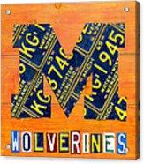 Vintage Michigan License Plate Art Acrylic Print