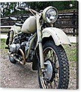 Vintage Military Motorcycle Acrylic Print