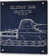 Vintage Military Tank Patent From 1945 Acrylic Print