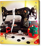 Vintage Mini Sewing Machine Acrylic Print
