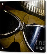 Vintage Motorcycle Goggles Acrylic Print