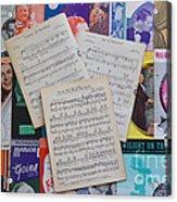 Vintage Music Sheets No.2 Acrylic Print