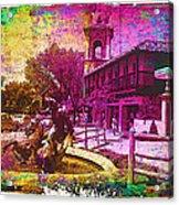 Vintage Neptune Fountain Kansas City Acrylic Print