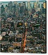Vintage New York Skyline Acrylic Print
