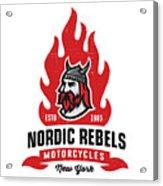 Vintage Nordic Rebels Motorcycles Acrylic Print