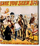 Vintage Nostalgic Poster - 8046 Acrylic Print by Wingsdomain Art and Photography