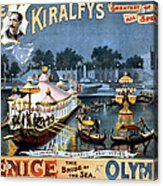 Vintage Nostalgic Poster - 8056 Acrylic Print by Wingsdomain Art and Photography