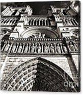 Vintage Notre Dame Acrylic Print by John Rizzuto