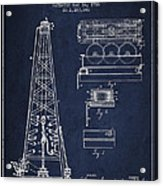 Vintage Oil Drilling Rig Patent From 1916 Acrylic Print