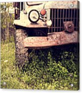 Vintage Old Dodge Work Truck Acrylic Print