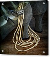 Vintage Pearls And Shoes Acrylic Print