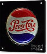 Vintage Pepsi Bottle Cap Acrylic Print